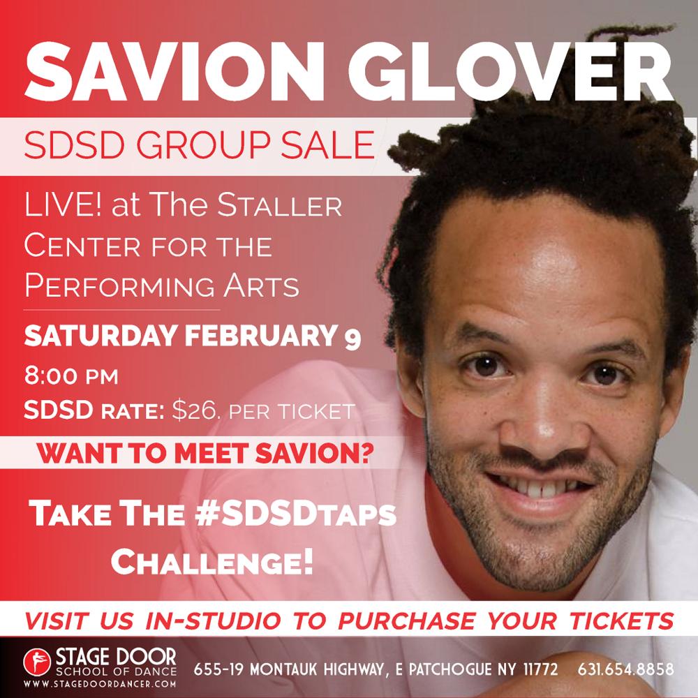 Stage Door - Group Sale - Savion Glover.png