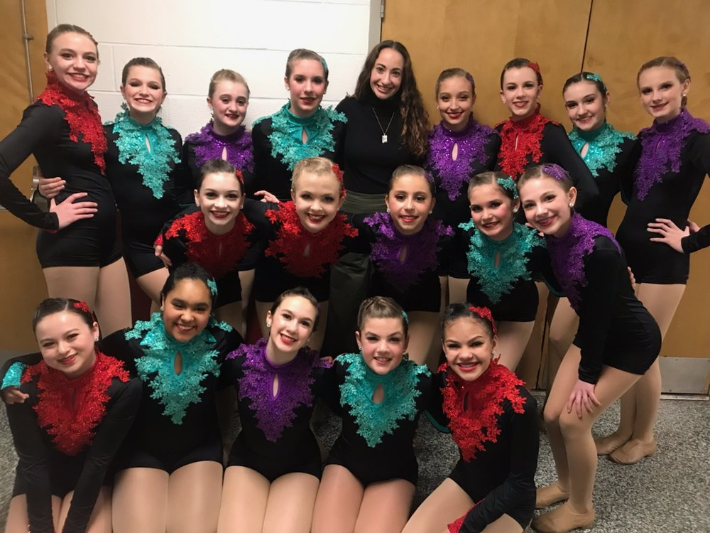 """Jr. D Jazz Company - """"SEVEN NATION ARMY"""" with choreography by Miss Jessica Heins."""