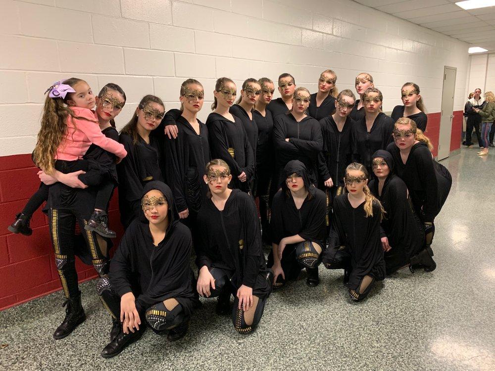 "Senior / Jr. Hip Hop Company - ""DIA DE LOS MUERTOS"" with choreography by Miss Stephanie Pitocco."