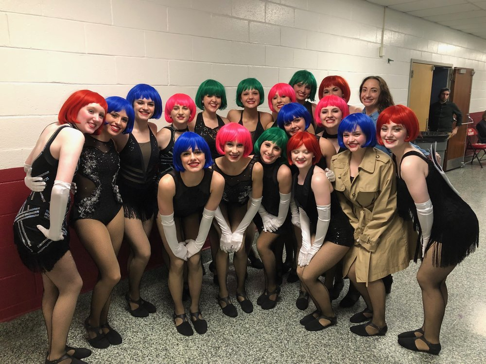 """Senior Jazz Company - """"RICH MAN'S FRUG"""" with choreography by Miss Jessica Heins. (WINNER of Best Choreography!)"""
