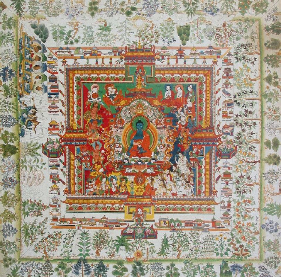 Medicine Buddha's Paradise of Sudarśana