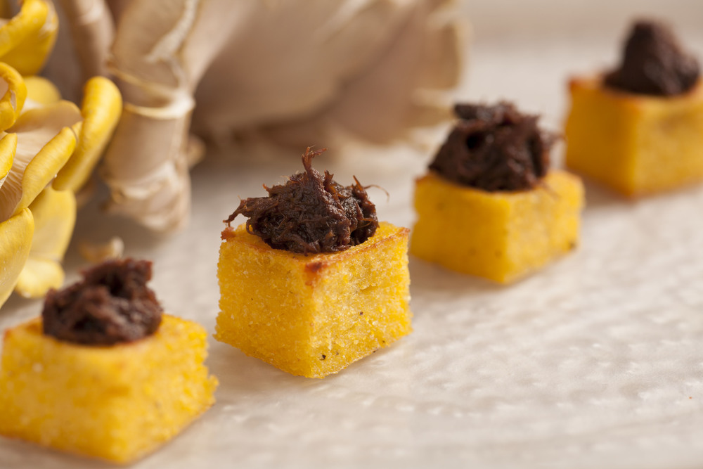 beef short rib confit | toasted polenta cup
