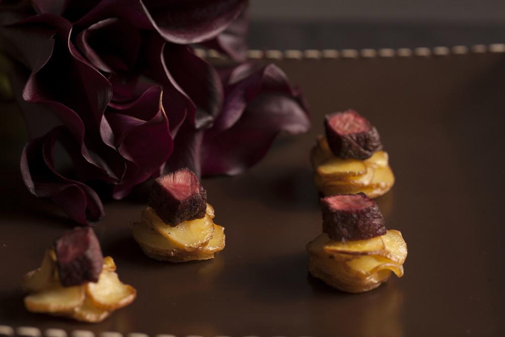 steak au poivre | pommes anna