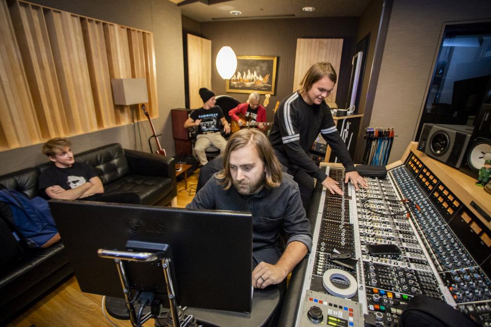 Sonic Blume in the studio.