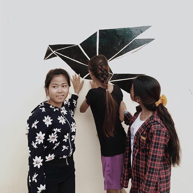 Young girls of Landmine Design!