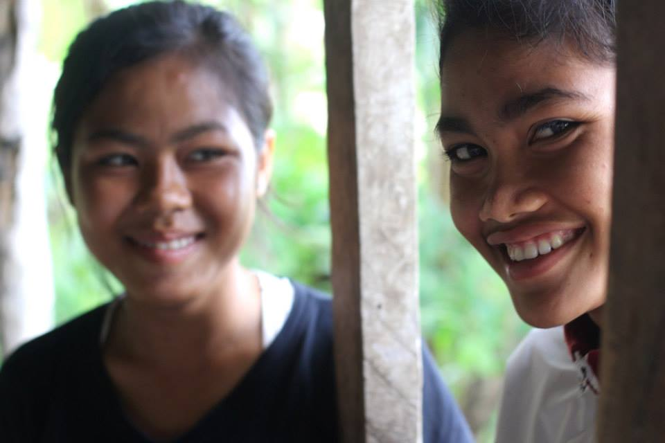 Srey Mom (right) with one of our young leaders, Volek. (June 2015)