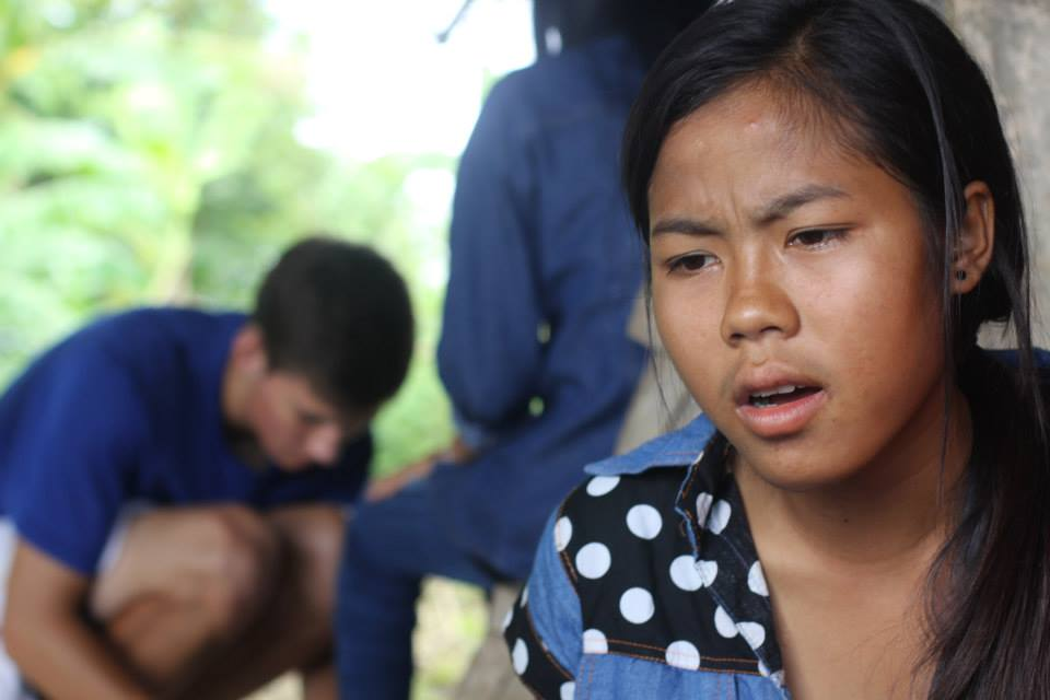 Volek, a young maker working for Landmine Design to avoid getting sent to do illegal work in Thailand to support her family.