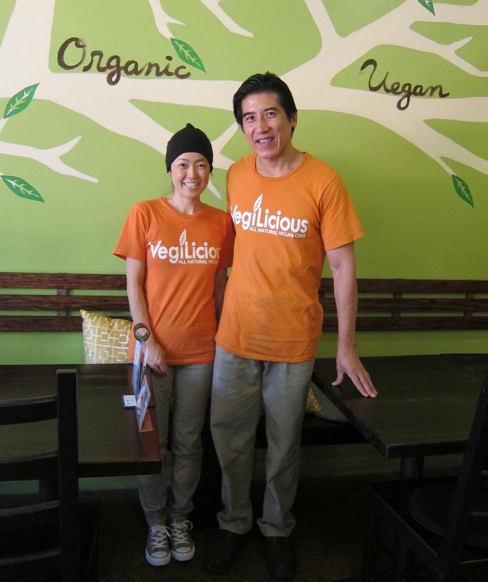 VegiLicious owners Akira and Atsuko Nakao  (Photo by Lauren Lloyd)