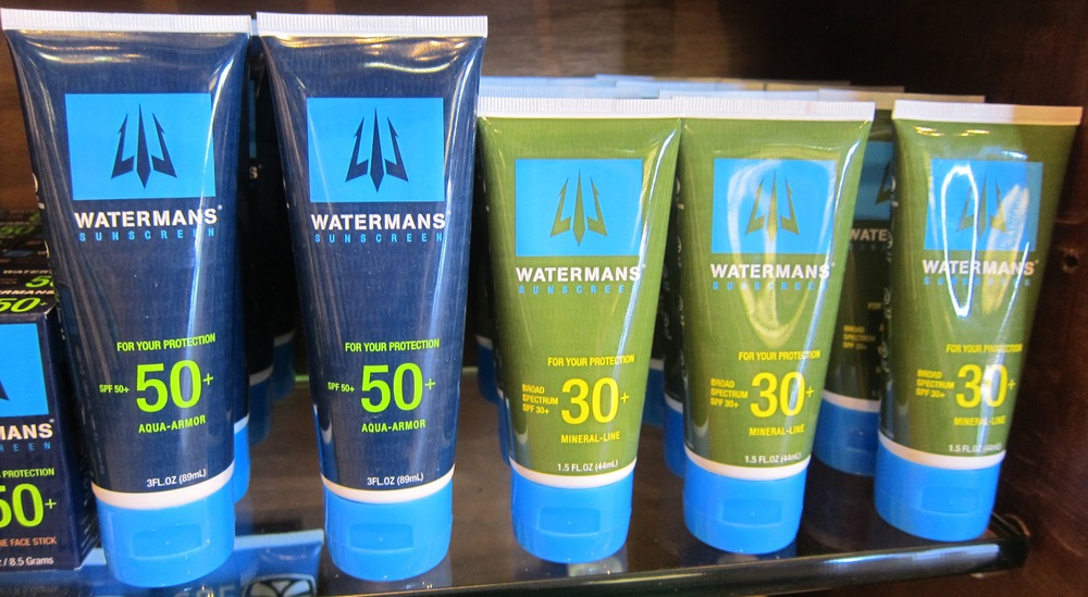 Based in HB,  Watermans Sunscreen  comes in three-ounce, 50 SPF tubes for $22 and 1.5-ounce 30 broad spectrum SPF tubes for $20. Lather up, friends. That sun's not getting any less intense.  (Photo by Lauren Lloyd)