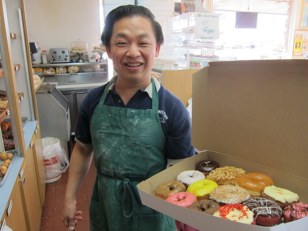 The Donuttery owner Ty Chhan  (Photo by Lauren Lloyd)