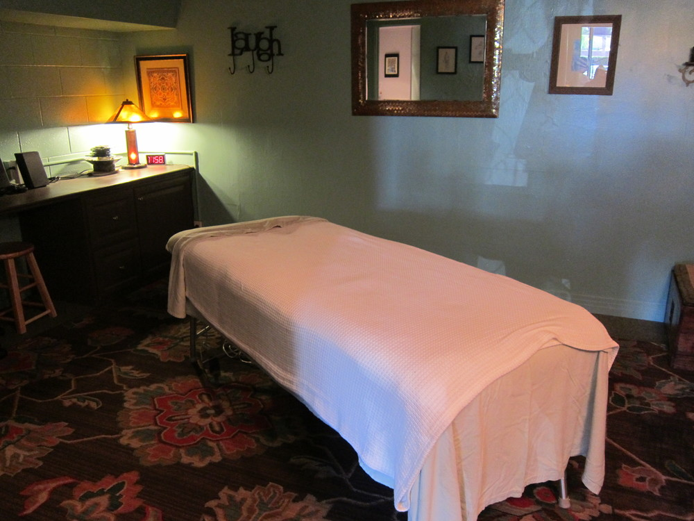 Harmony HB's soothing massage room  (Photo by Lauren Lloyd)