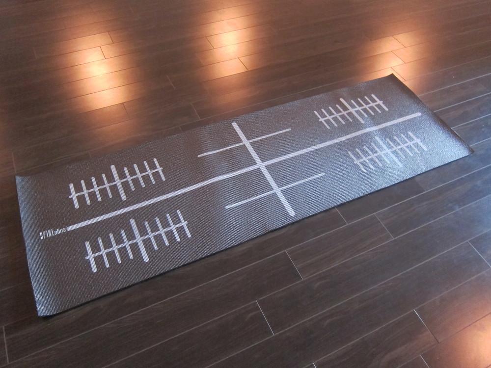 Jan Palmer's Spinealine mat (Photo by Lauren Lloyd)