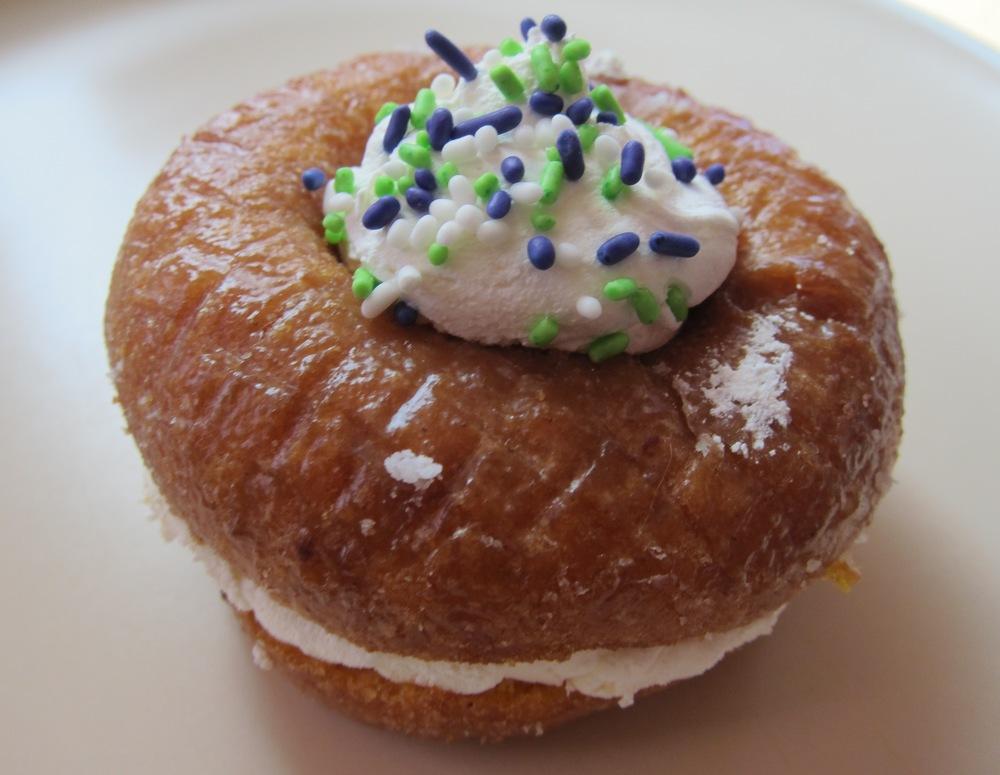 Whipped cream-filled pumpkin doughnut (Photo by Lauren Lloyd)