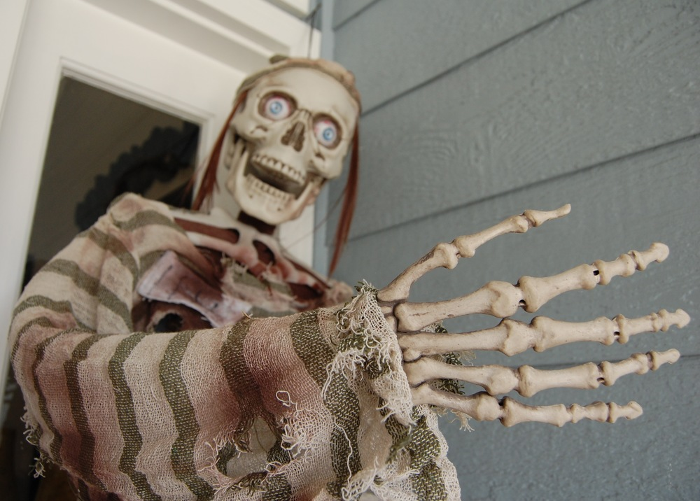 One of the many monsters awaiting you at Earrywood Haunted House (Photo by Lauren Lloyd)
