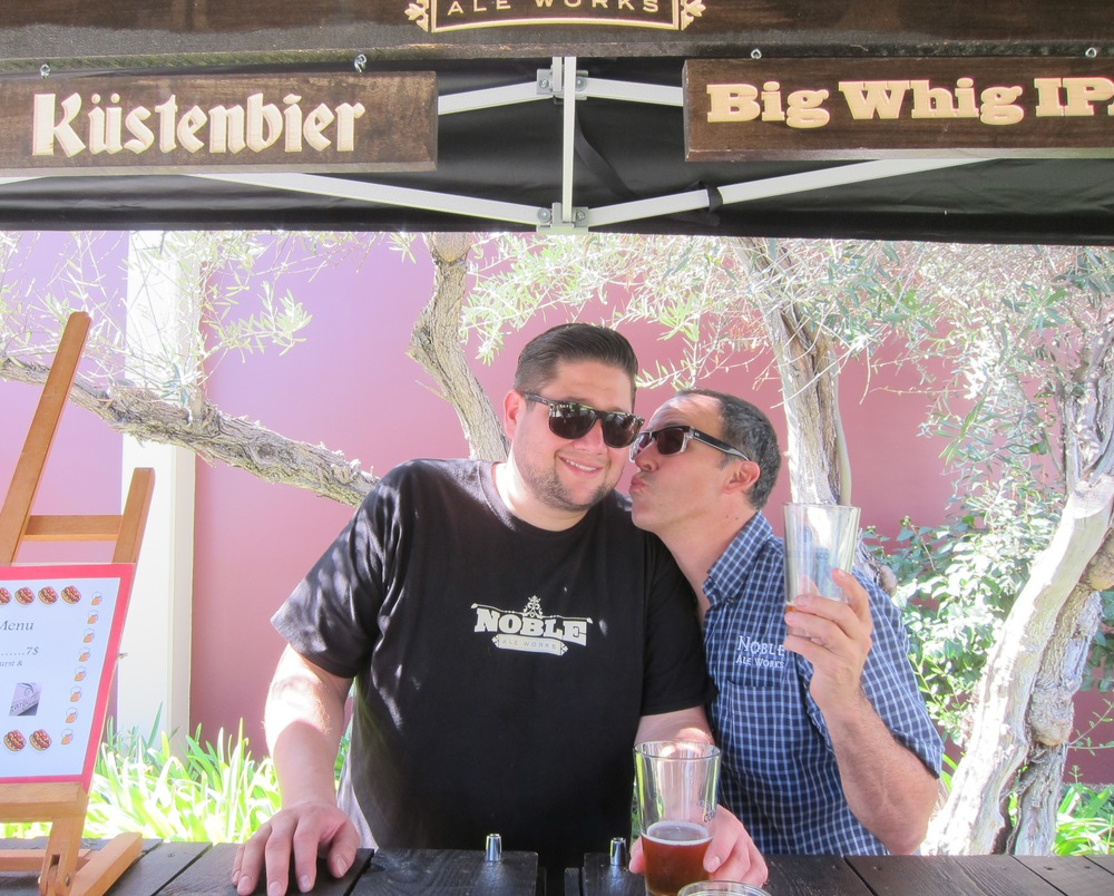 The men of  Noble Ale Works  showing some love  (Photo by Lauren Lloyd)