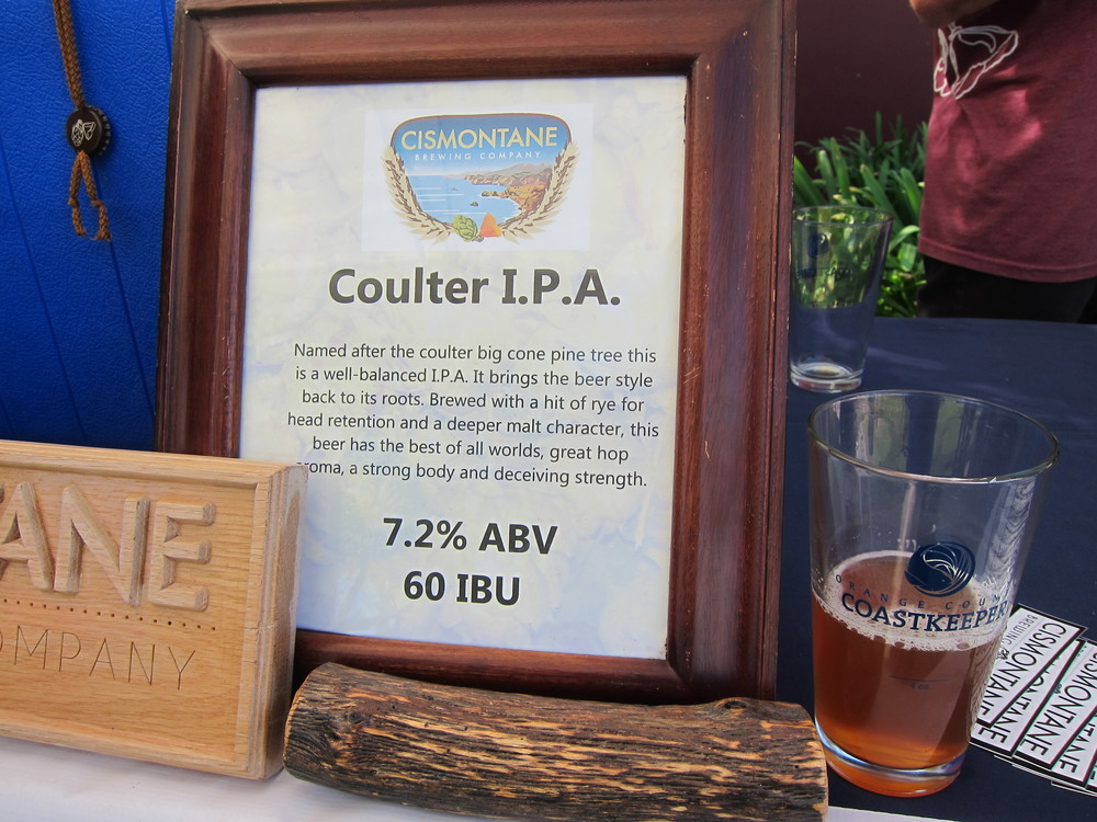 Cismontane 's tasty Coulter I.P.A.  (Photo by Lauren Lloyd)
