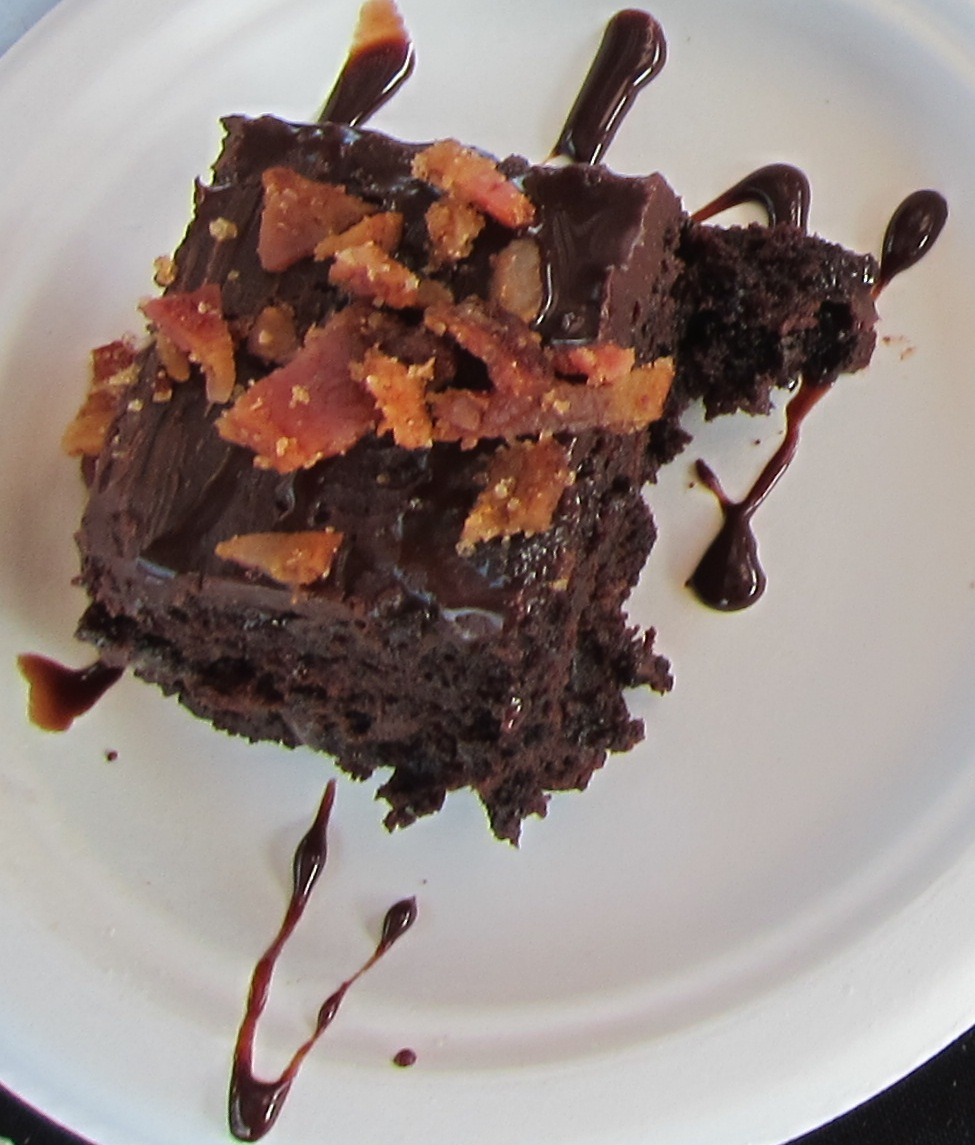 Slater's 50/50 's famous bacon brownie  (Photo by Lauren Lloyd)