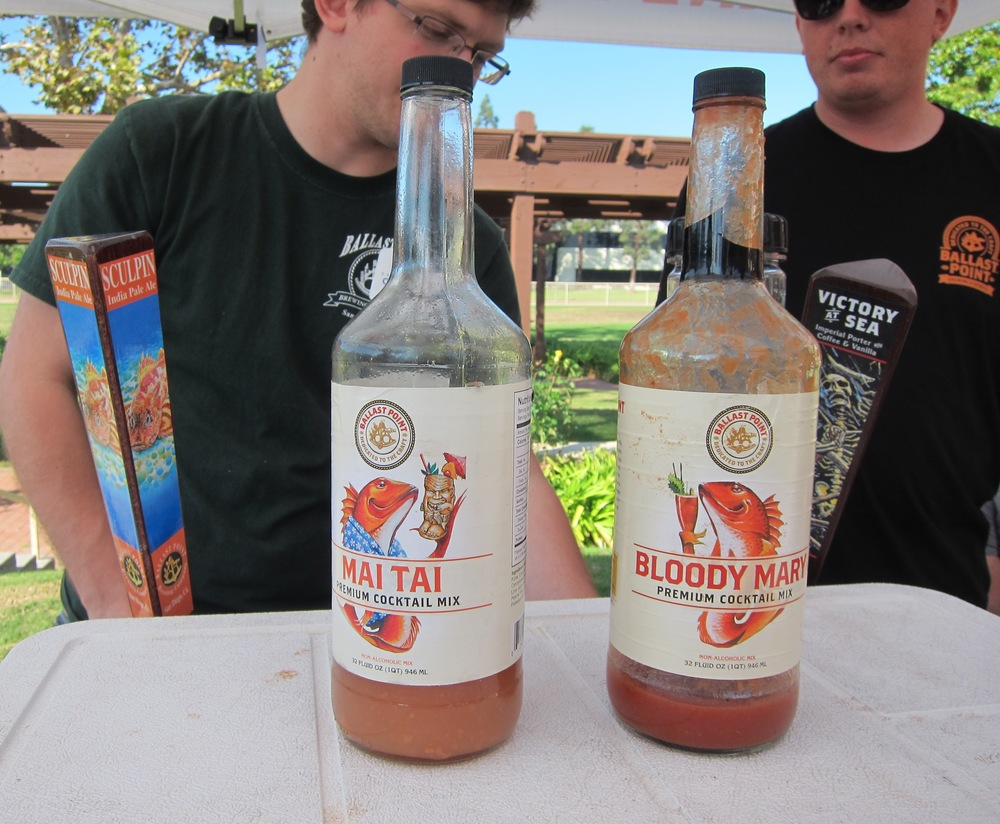 The wild  Ballast Point  crew offered us a mai tai or a bloody mary made with their Sculpin I.P.A.  (Photo by Lauren Lloyd)