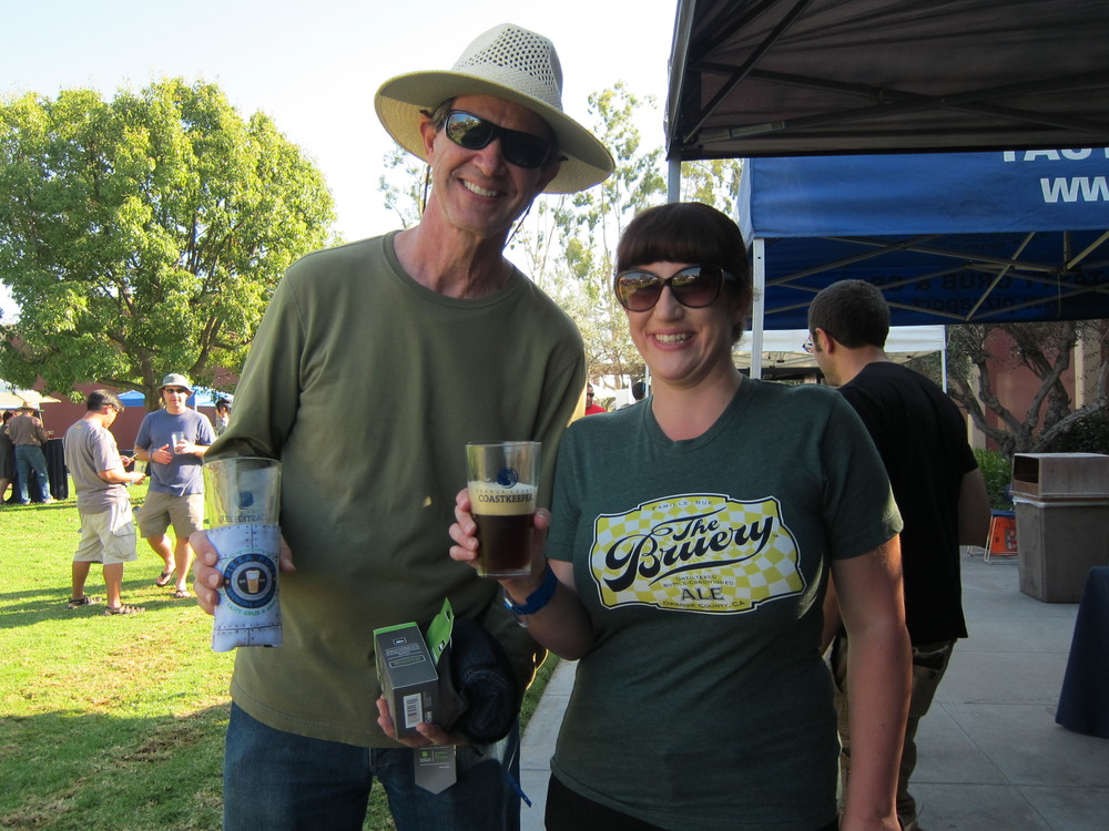Our awesome CleanWaterFest ticket giveaway winner, Allison Foley, and her awesome dad, Paul Foley  (Photo by Lauren Lloyd)