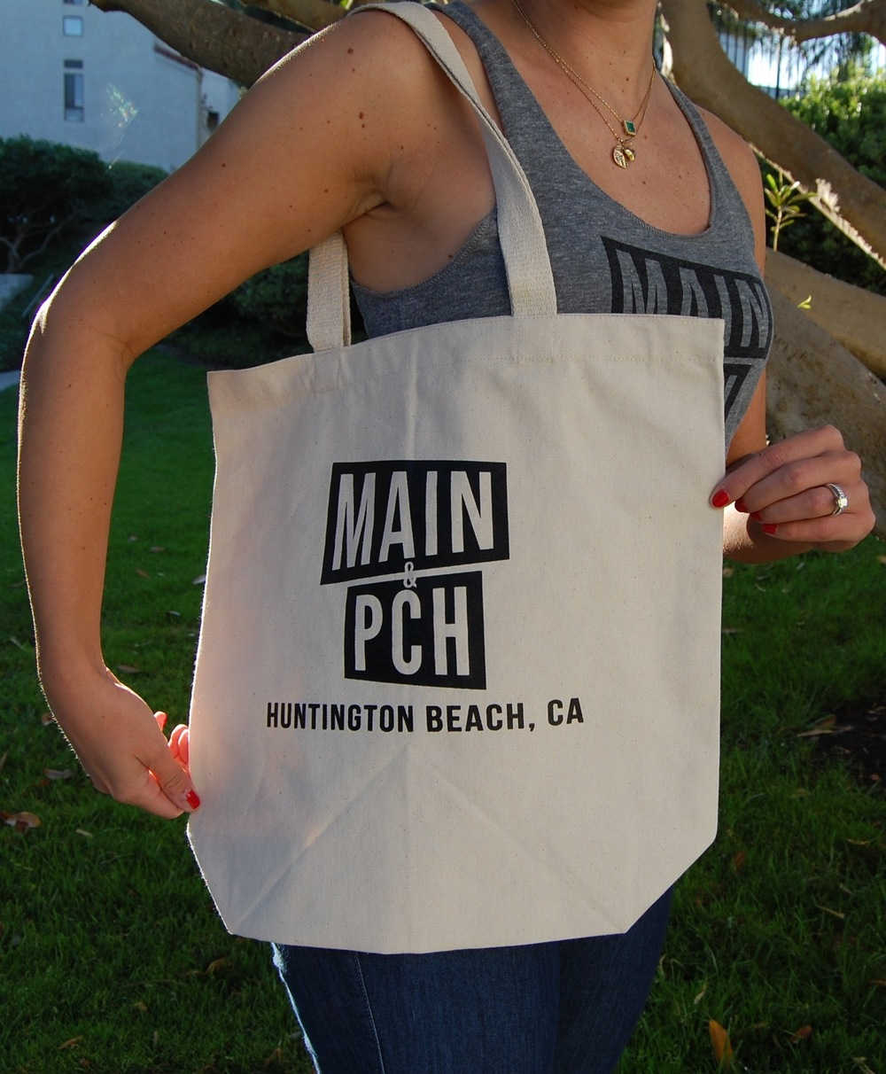 Our new Main & PCH recycled cotton canvas tote, available at our marketplace