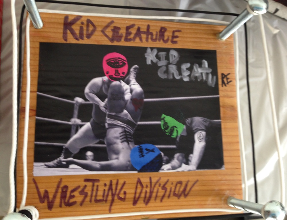 Inside Kid Creature's studio: Kid Creature wrestling creation  (Photo by Jeremy Reed)