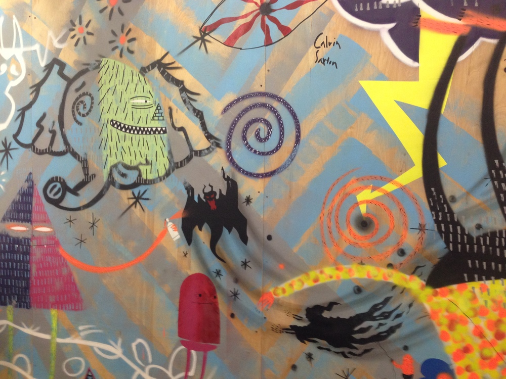Inside Kid Creature's studio: Kid Creature mural (Photo by Jeremy Reed)