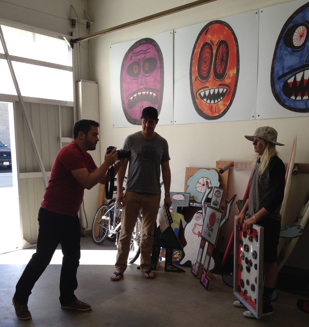 Main & PCH video shoot inside Kid Creature's studio (Photo by Lauren Lloyd)