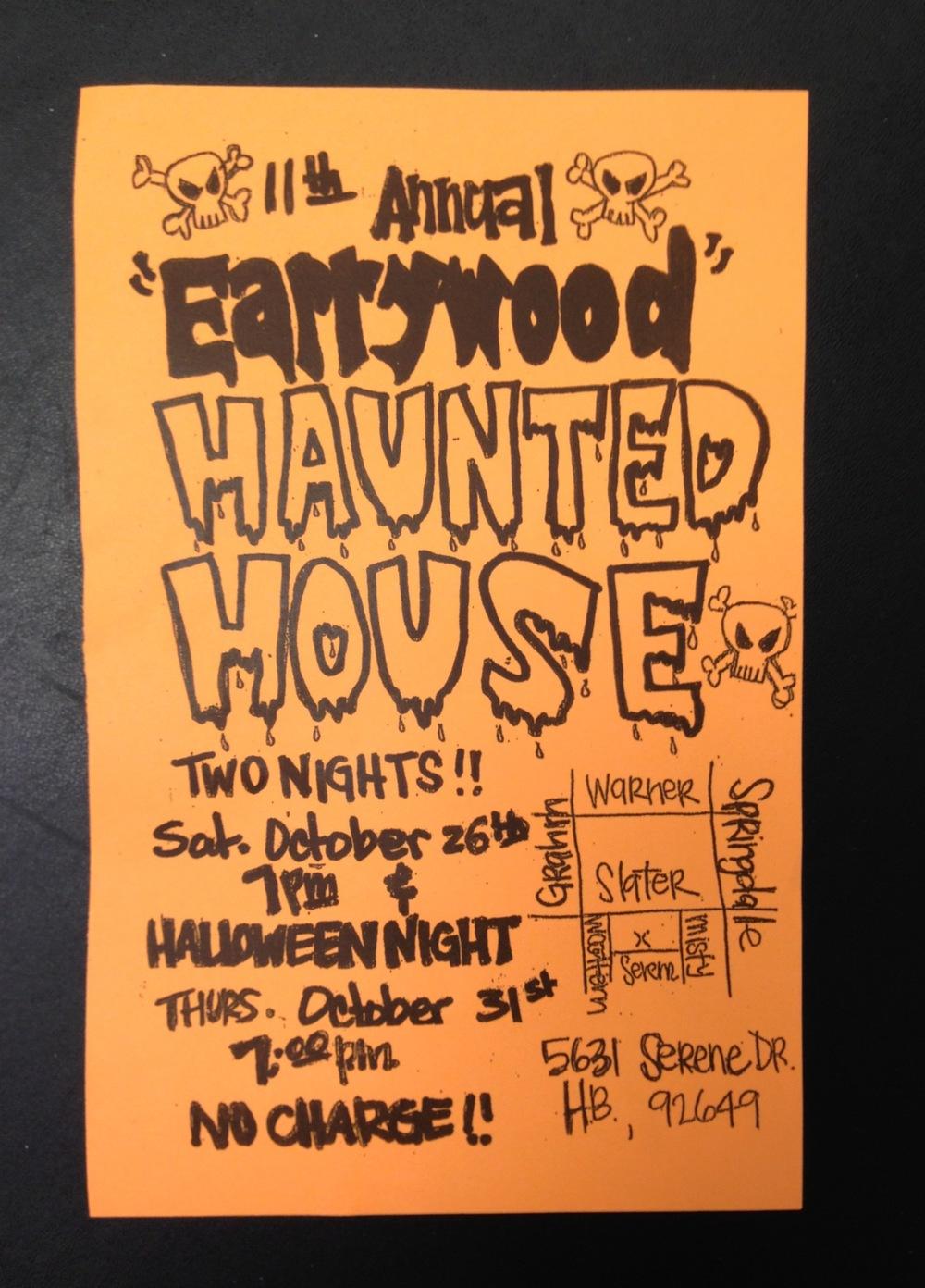 Event flier courtesy of Ken Earwood