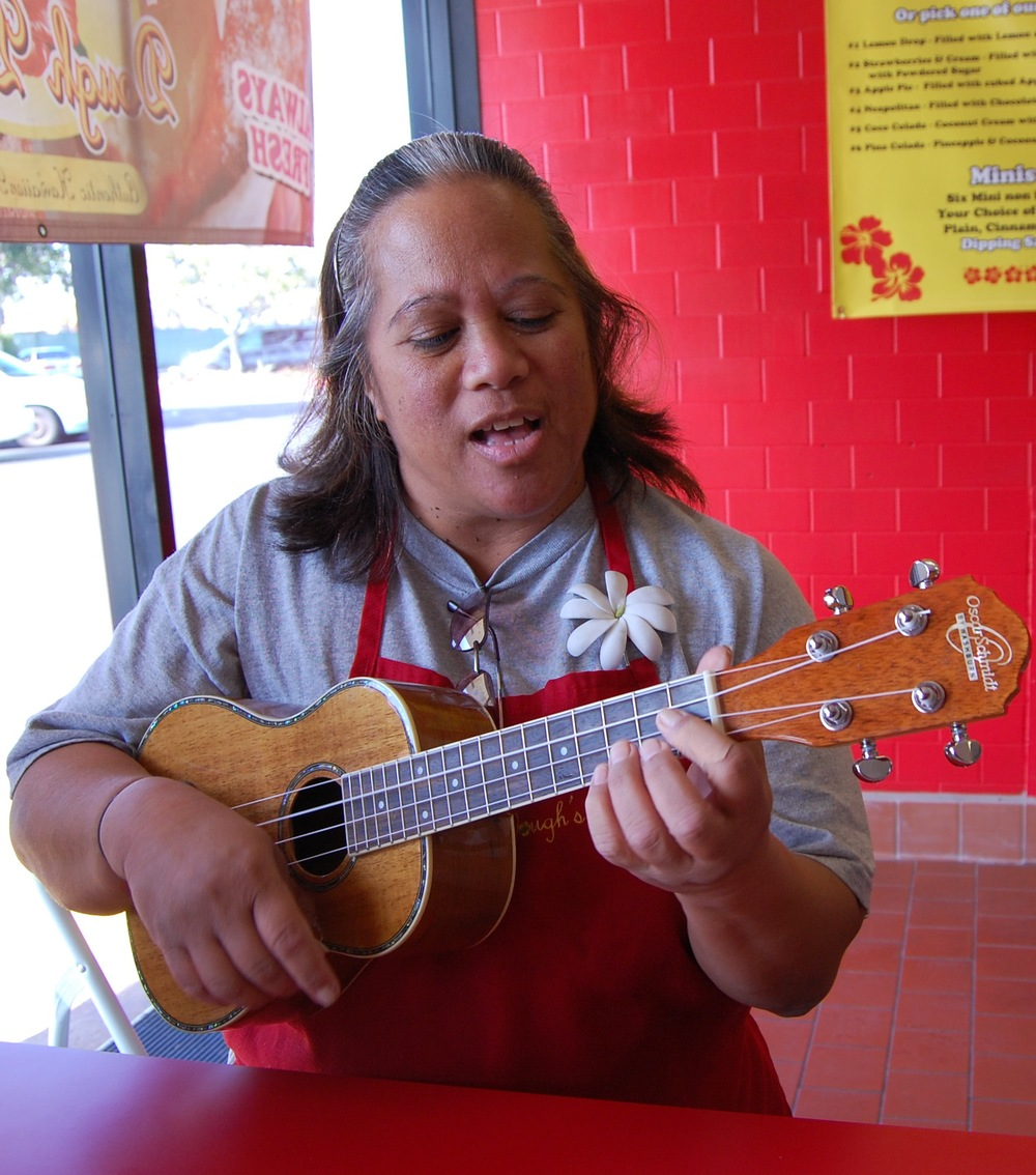 "A little Leo ukulele action at Dough Dough's Hawaiian Malasadas (Photo by Lauren Lloyd)                               0    false          18 pt    18 pt    0    0       false    false    false                                               /* Style Definitions */ table.MsoNormalTable {mso-style-name:""Table Normal""; mso-tstyle-rowband-size:0; mso-tstyle-colband-size:0; mso-style-noshow:yes; mso-style-parent:""""; mso-padding-alt:0in 5.4pt 0in 5.4pt; mso-para-margin-top:0in; mso-para-margin-right:0in; mso-para-margin-bottom:10.0pt; mso-para-margin-left:0in; mso-pagination:widow-orphan; font-size:12.0pt; font-family:""Times New Roman""; mso-ascii-font-family:Cambria; mso-ascii-theme-font:minor-latin; mso-fareast-font-family:""Times New Roman""; mso-fareast-theme-font:minor-fareast; mso-hansi-font-family:Cambria; mso-hansi-theme-font:minor-latin;}                                           0    false          18 pt    18 pt    0    0       false    false    false                                               /* Style Definitions */ table.MsoNormalTable {mso-style-name:""Table Normal""; mso-tstyle-rowband-size:0; mso-tstyle-colband-size:0; mso-style-noshow:yes; mso-style-parent:""""; mso-padding-alt:0in 5.4pt 0in 5.4pt; mso-para-margin-top:0in; mso-para-margin-right:0in; mso-para-margin-bottom:10.0pt; mso-para-margin-left:0in; mso-pagination:widow-orphan; font-size:12.0pt; font-family:""Times New Roman""; mso-ascii-font-family:Cambria; mso-ascii-theme-font:minor-latin; mso-fareast-font-family:""Times New Roman""; mso-fareast-theme-font:minor-fareast; mso-hansi-font-family:Cambria; mso-hansi-theme-font:minor-latin;}"