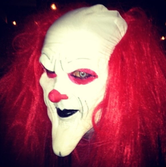 One of three creepy clowns at Earrywood Haunted House 2013  (Photo courtesy of Ken Earwood)