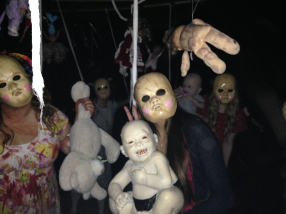 Dreadful dolls at Earrywood Haunted House 2013  (Photo courtesy of Ken Earwood)