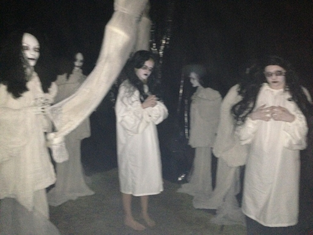 Ghostly gals at Earrywood Haunted House 2013  (Photo courtesy of Ken Earwood)