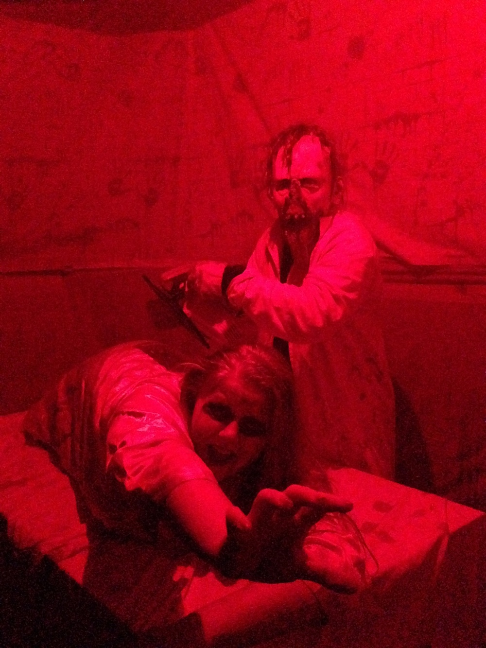 Bloody scene at Earrywood Haunted House 2013  (Photo courtesy of Ken Earwood)