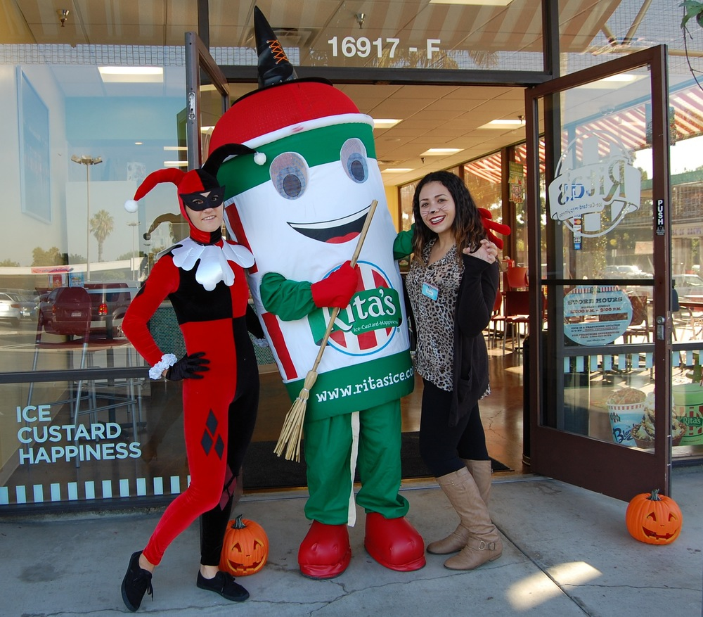 We stopped by Rita's Italian Ice Huntington Beach on Halloween, obviously.  (Photo by Lauren Lloyd)