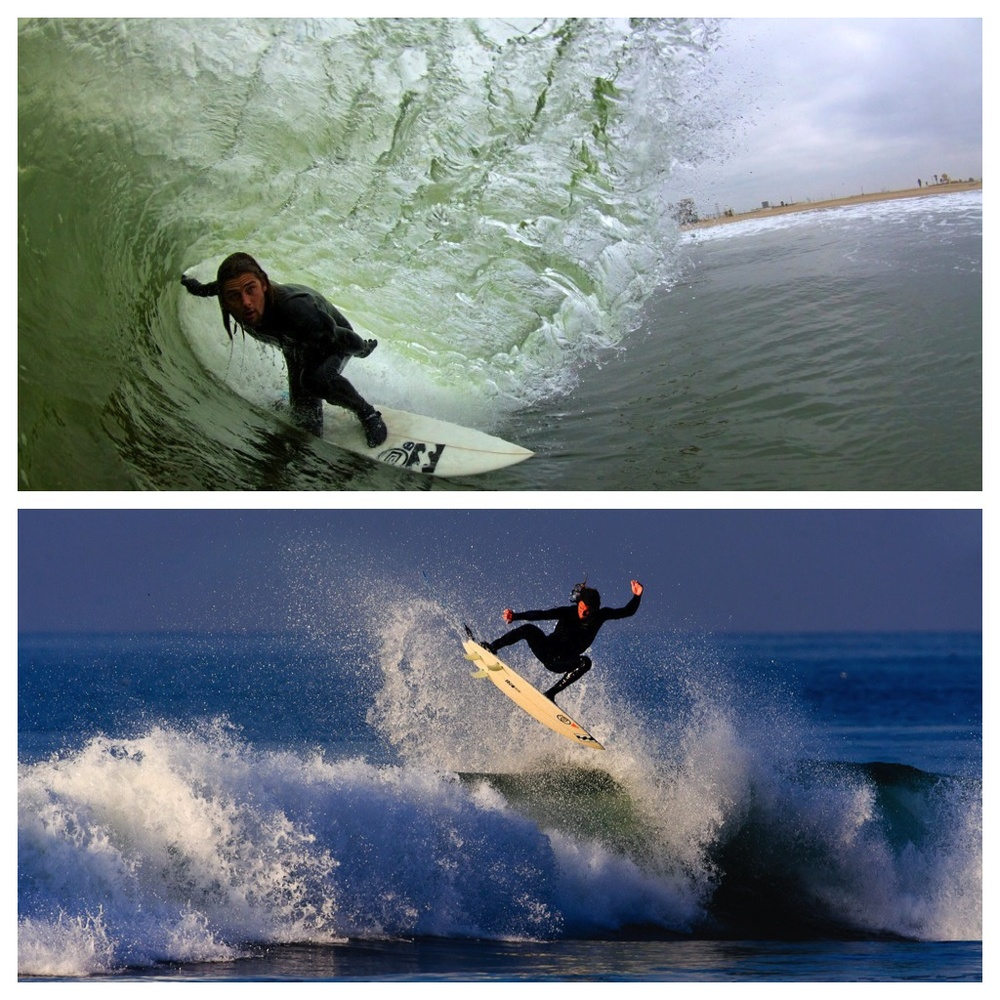 Top: Huntington State Beach (Photo by Drew Martin) Bottom: Newport River Jetties (Photo by Jeremiah Klein)
