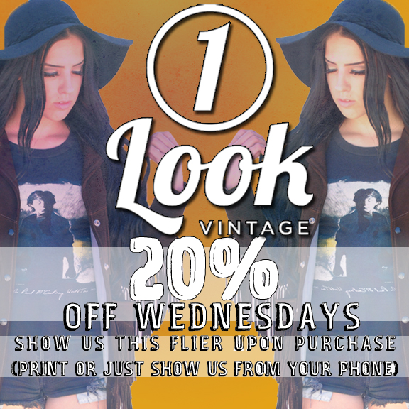 1 Look Vintage 20% Off Wednesdays flier