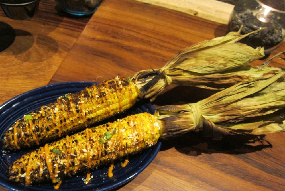 Grilled corn elote (Photo by Lauren Lloyd)