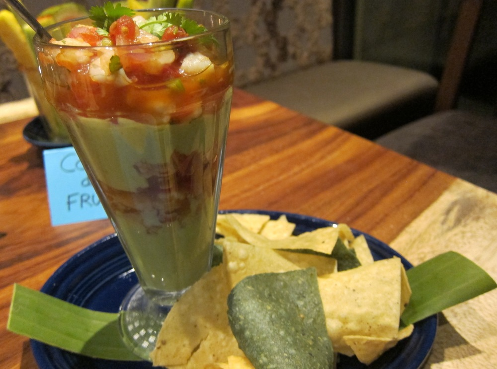 Tequila shrimp & avocado sundae (Photo by Lauren Lloyd)