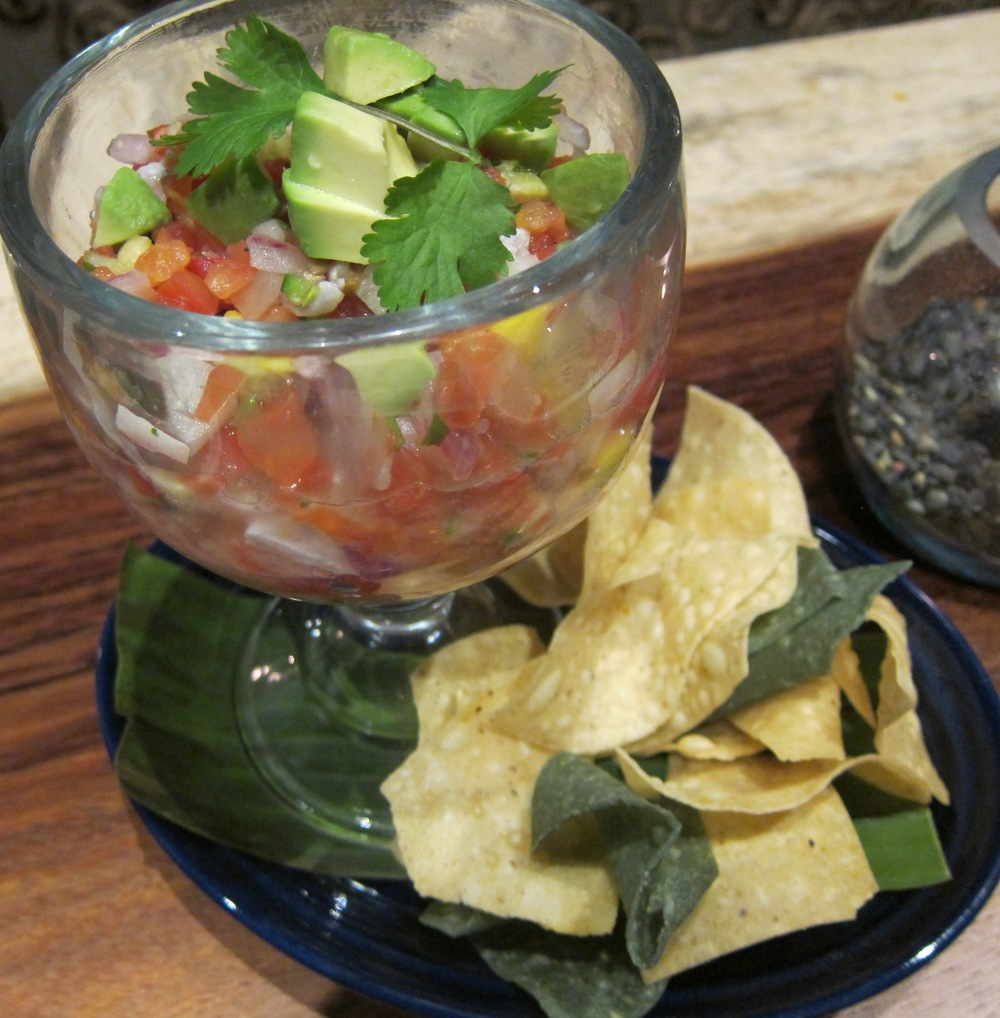 Yellowtail ceviche tropicale  ( Photo by Lauren Lloyd)