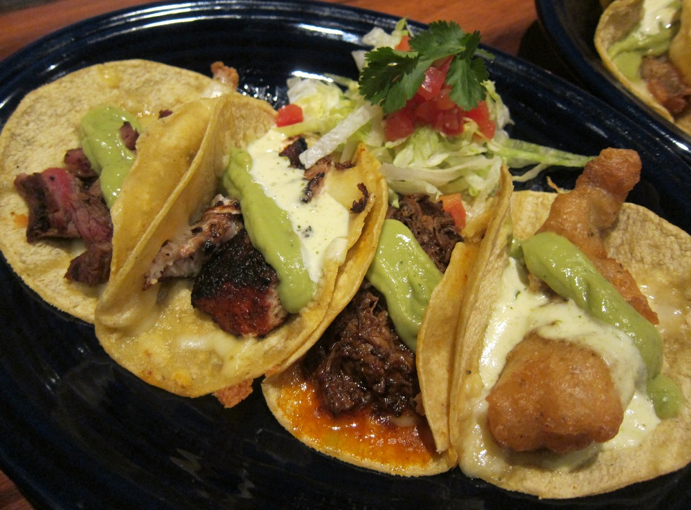 """El Primo"" taco taster (Photo by Lauren Lloyd)"