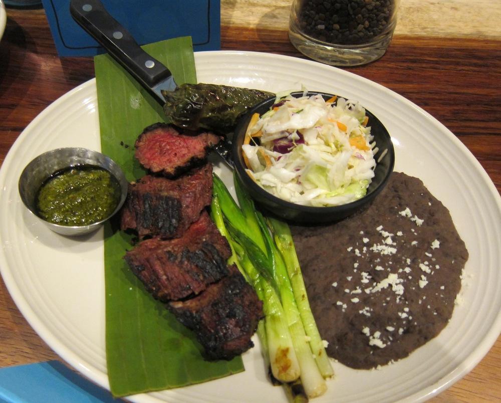 Skirt steak asada with toreados