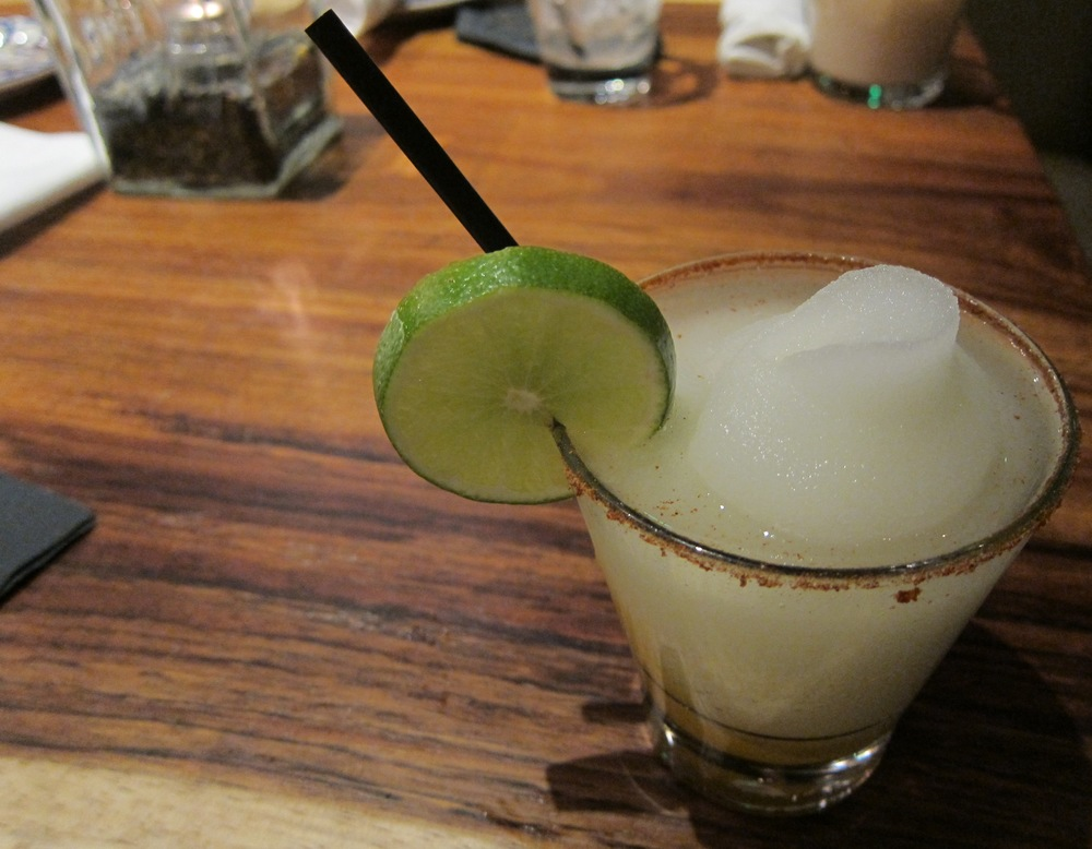 Frozen mango margarita with chile salt rim  ( Photo by Lauren Lloyd)