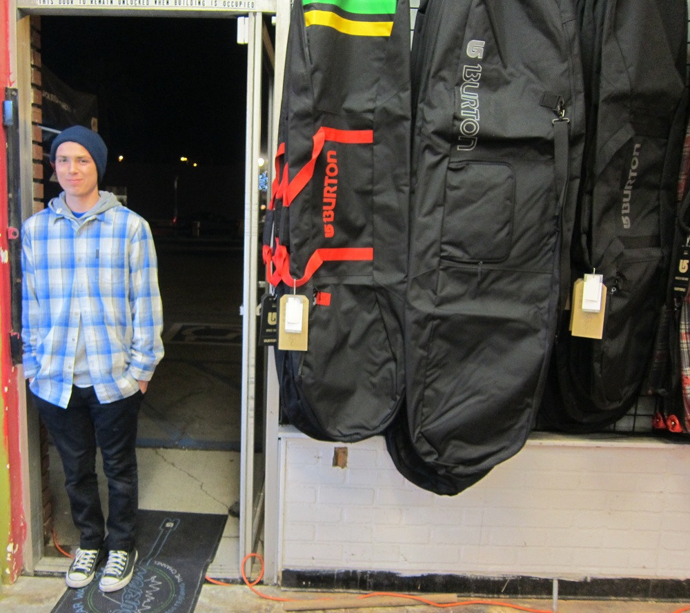 Jack's Snowboard Shop employee Austin, at your service  (Photo by Lauren Lloyd)