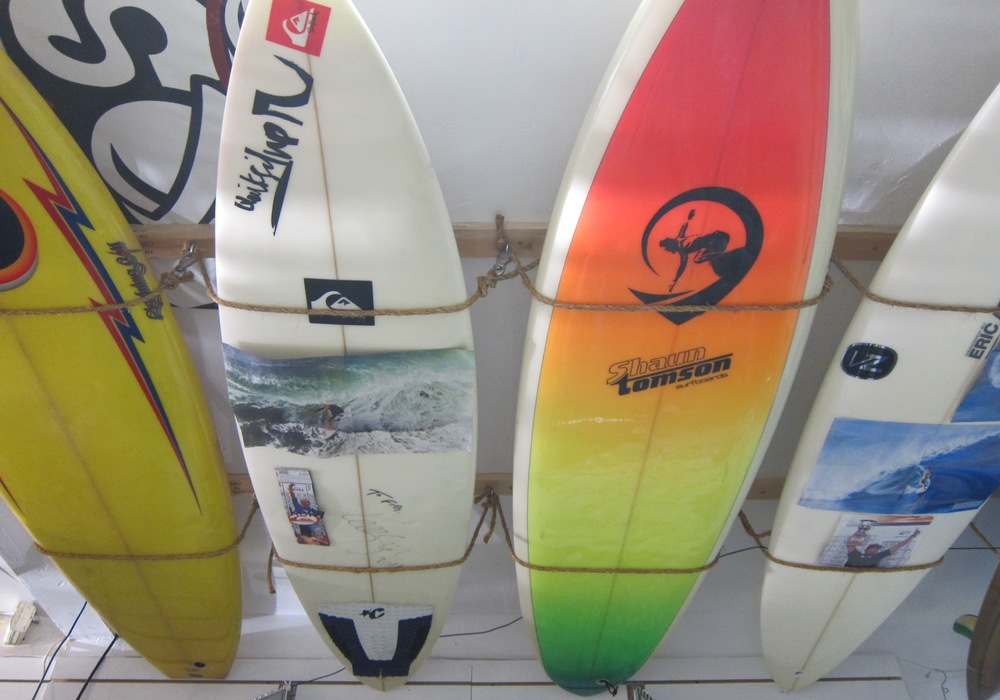 Vintage surfboards at Rockin' Fig Surf Headquarters (Photo by Lauren Lloyd)