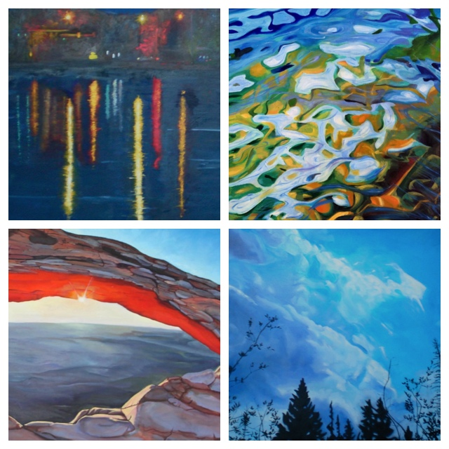 "From top left: ""City Park""; ""The Shallows""; Untitled; ""Mesa Arch""  (Photos courtesy of Mackenzie Matthews)"