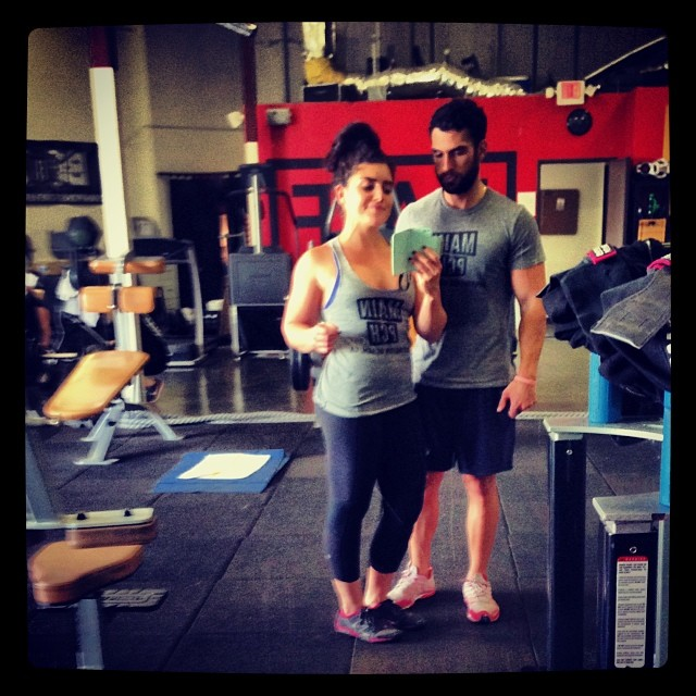 Two of our favorite fans,  FrannyFit  and Chris Pareja, work our tank and tee while working on their fitness  (Photo courtesy of FrannyFit and Chris Pareja)