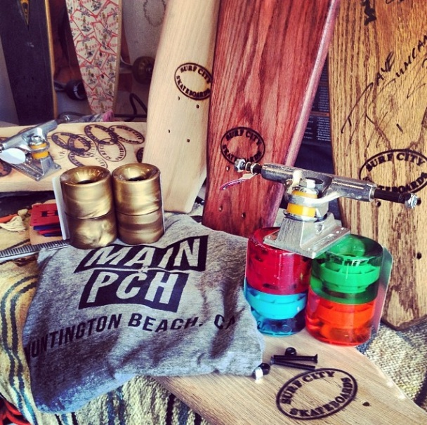 Our tee graces the stage with  Surf City Skateboards   (Photo courtesy of Surf City Skateboards)