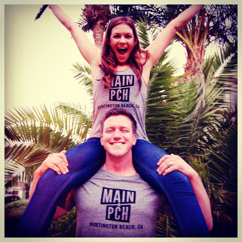 M&P readers Lauren and Sam Campitella cheer for our tanks and tees  (Photo courtesy of The Campitellas)