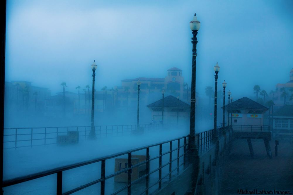 """""""Just in case you thought about coming to the pier!""""  (Photo by  Michael Latham )"""