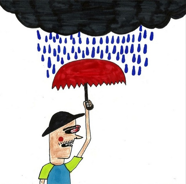 """""""There's rain coming..."""" (Illustration by  Kid Creature )"""